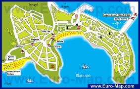 Туристическая карта курорта Созополь