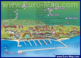 Карта курорта Святой Влас с отелями