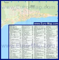 Подробная карта Святого Власа с отелями
