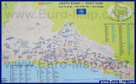 Туристическая карта Святого Власа с достопримечательностями