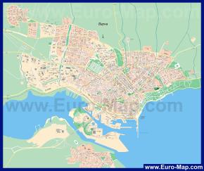 Подробная карта Варны