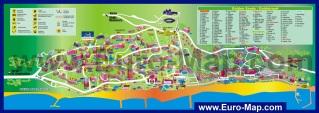 Туристическая карта отелей Золотых Песков