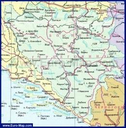 Карта Боснии и Герцеговины на русском языке