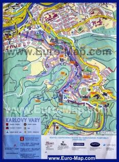 Карта города Карловы Вары с достопримечательностями