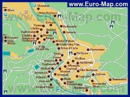 Карта отелей Карловых Вар