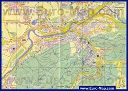Подробная карта Карловых Вар