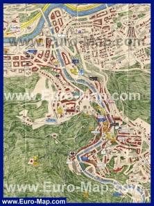 Туристическая карта Карловых Вар с отелями