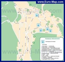 Карта Марианских Лазней с санаториями