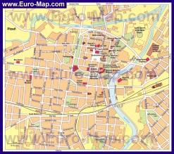Подробная карта города Пльзень