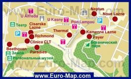 Карта отелей Теплице