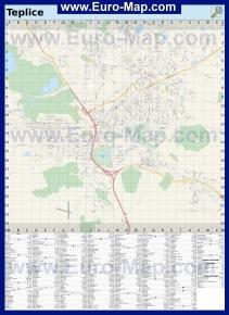 Подробная карта Теплице