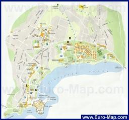 Карта города Будва