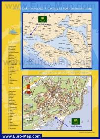 Туристическая карта курорта Герцег-Нови