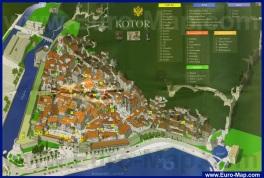 Карта города Котор