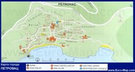 Карта города Петровац