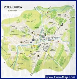 Карта города Подгорица