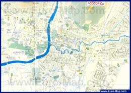 Подробная карта Подгорицы