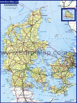 Карта дорог Дании
