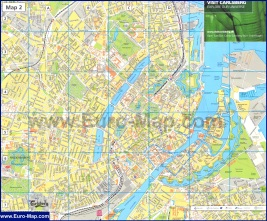 Подробная карта города Копенгаген