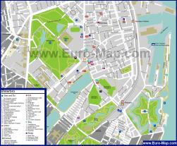 Туристическая карта Копенгагена с достопримечательностями