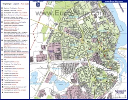 Туристическая карта Нарвы с достопримечательностями