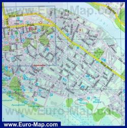 Туристическая карта Пярну с отелями