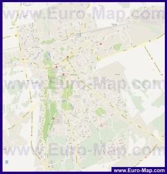 Подробная карта города Раквере с отелями