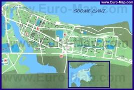 Подробная карта города Силламяэ