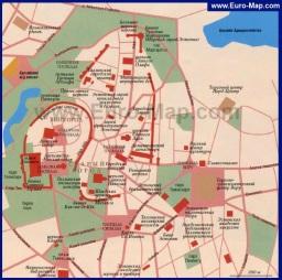 Карта Таллина с достопримечательностями на русском языке (старый город)