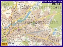 Подробная карта города Валга