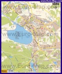 Подробная карта города Выру