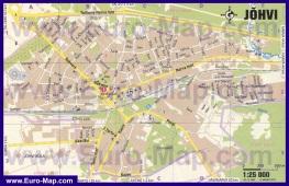 Подробная карта города Йыхви