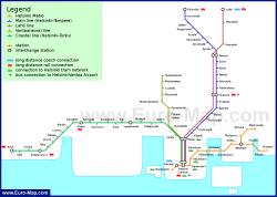 Карта (схема) метро Хельсинки