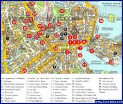 Отели Хельсинки на карте (Туристическая карта)