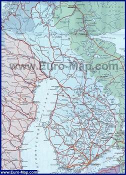 Карта Финляндии на русском языке