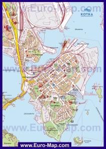 Подробная карта города Котка