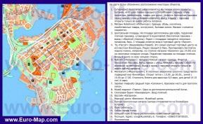 Туристическая карта Котки с магазинами