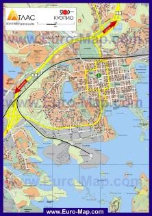 Туристическая карта Куопио
