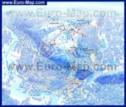 Карта горнолыжного курорта Леви с трассами