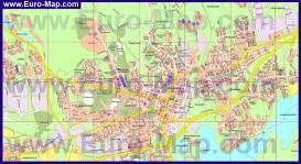 Подробная карта города Миккели