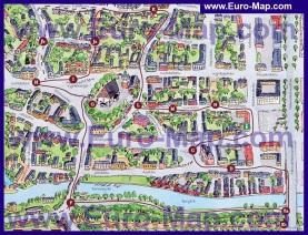 Туристическая карта города Порвоо