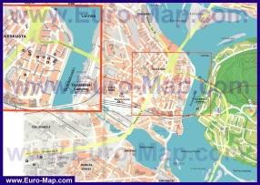 Подробная карта города Рованиеми