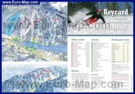 Подробная карта горнолыжного курорта Тахко