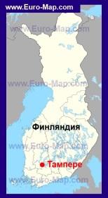 Тампере на карте Финляндии