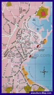 Туристическая карта Антиба