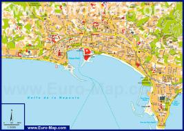 Карта города Канны (Франция)