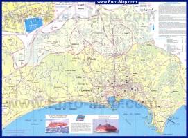 Подробная карта Канн