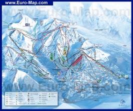 Схема горнолыжных трасс курорта Куршевель