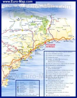 Туристическая карта Лазурного берега