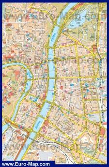 Подробная карта Лиона